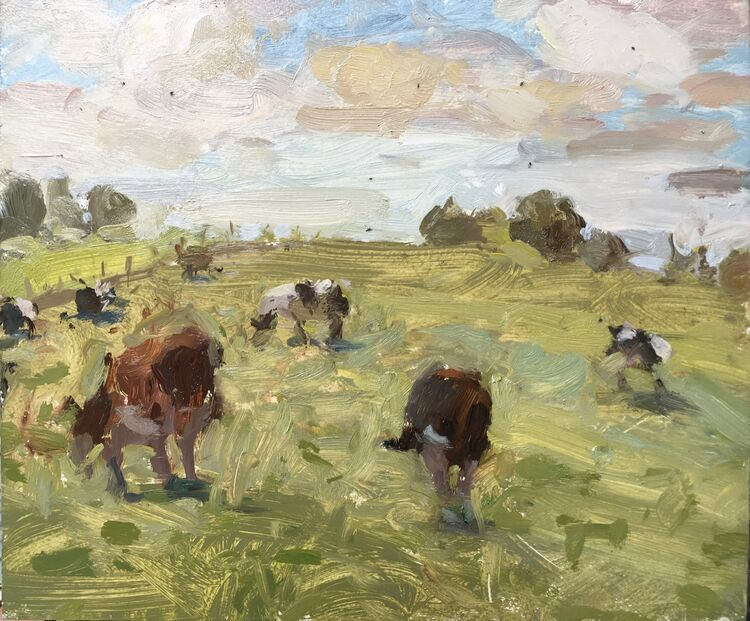 "WanderIng Cows (10""x12"") - £495"