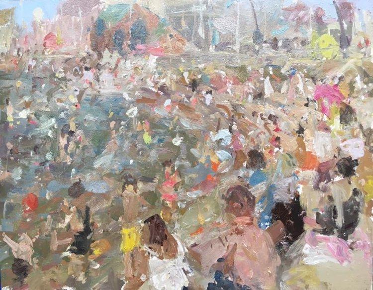 "Blackpool Beach (11""x14"") - £595"