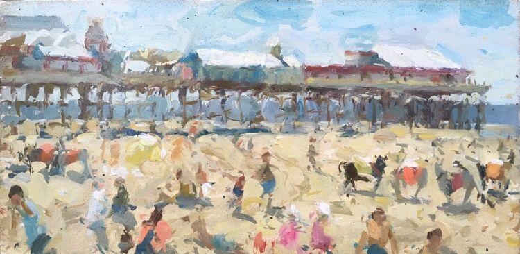 "Beach Life (10""x20"") - Sold"