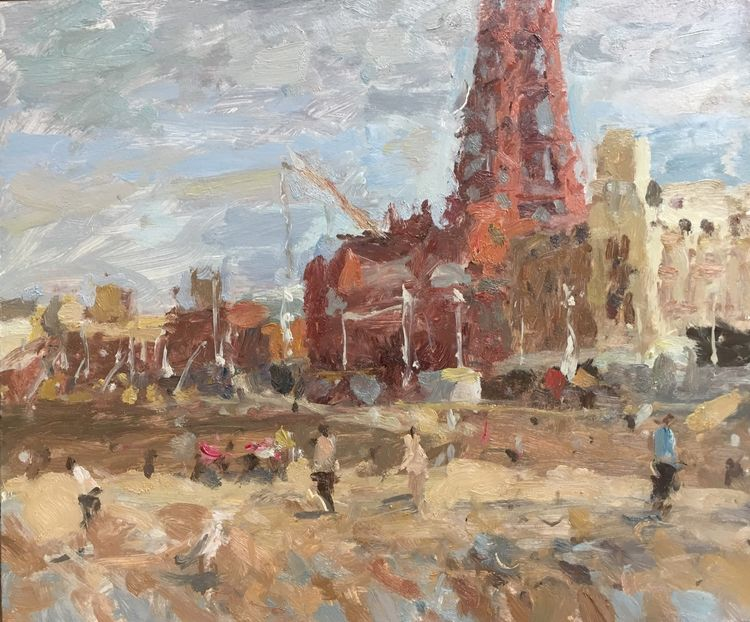 "Blackpool Tower 125 years old (10""x12"") - £495"