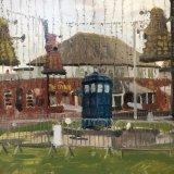 "Daleks & Tardis, Gynn Roundabout (11""x14"") - £495"