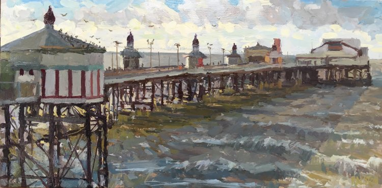 "Blackpool North Pier (10""x20"") - SOLD"