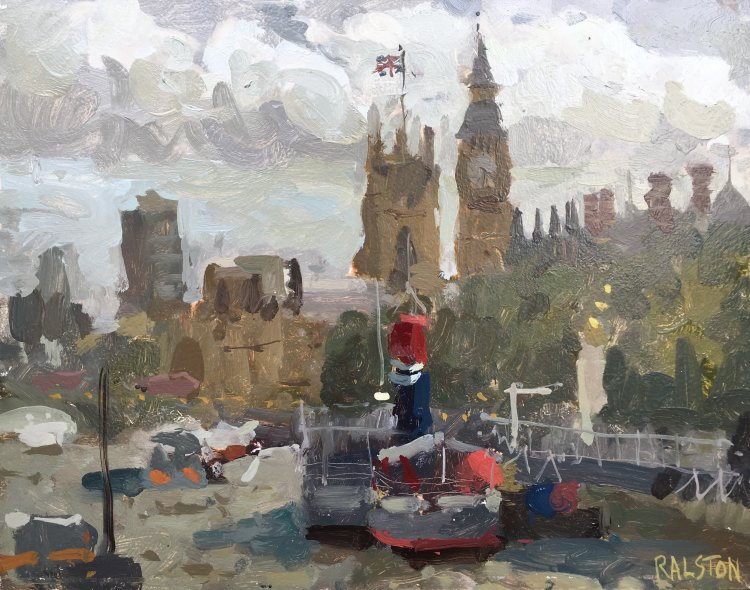 """Tattershall Castle and Westminster (11""""x14"""") - £595"""