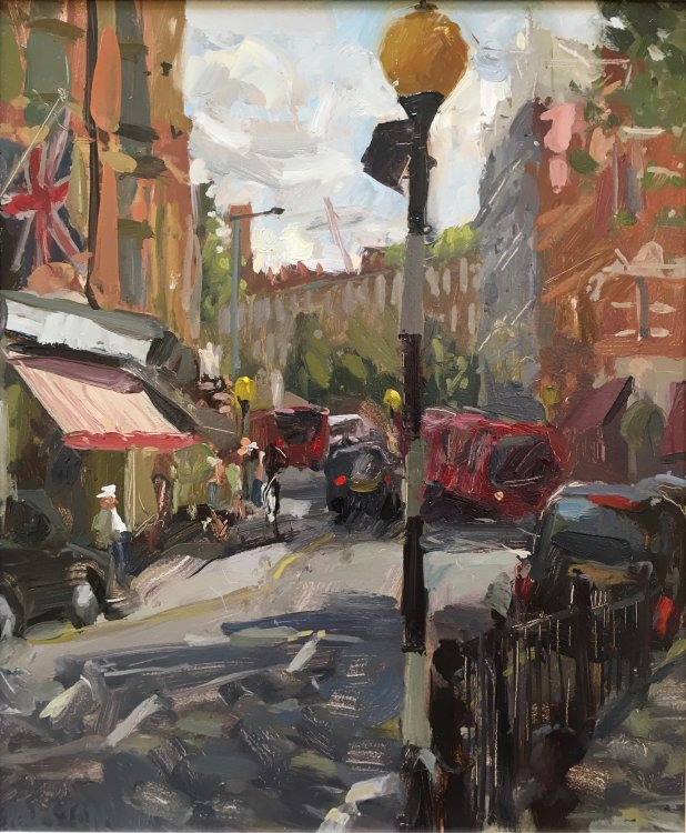"Sloane Square, London (12""x10"") - SOLD"