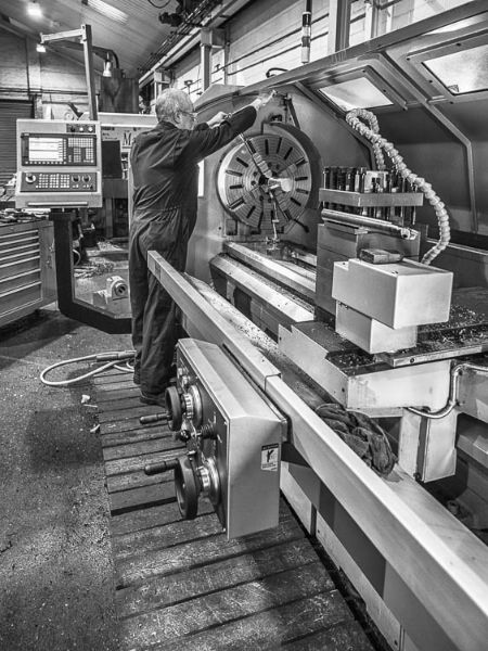 Harry at the Lathe