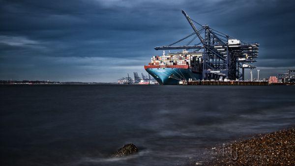 MayView Maersk at Felixstowe