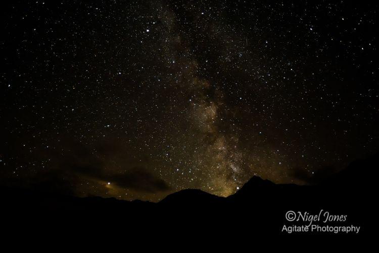 Milky Way over Weinflaschenkopf and Murauer