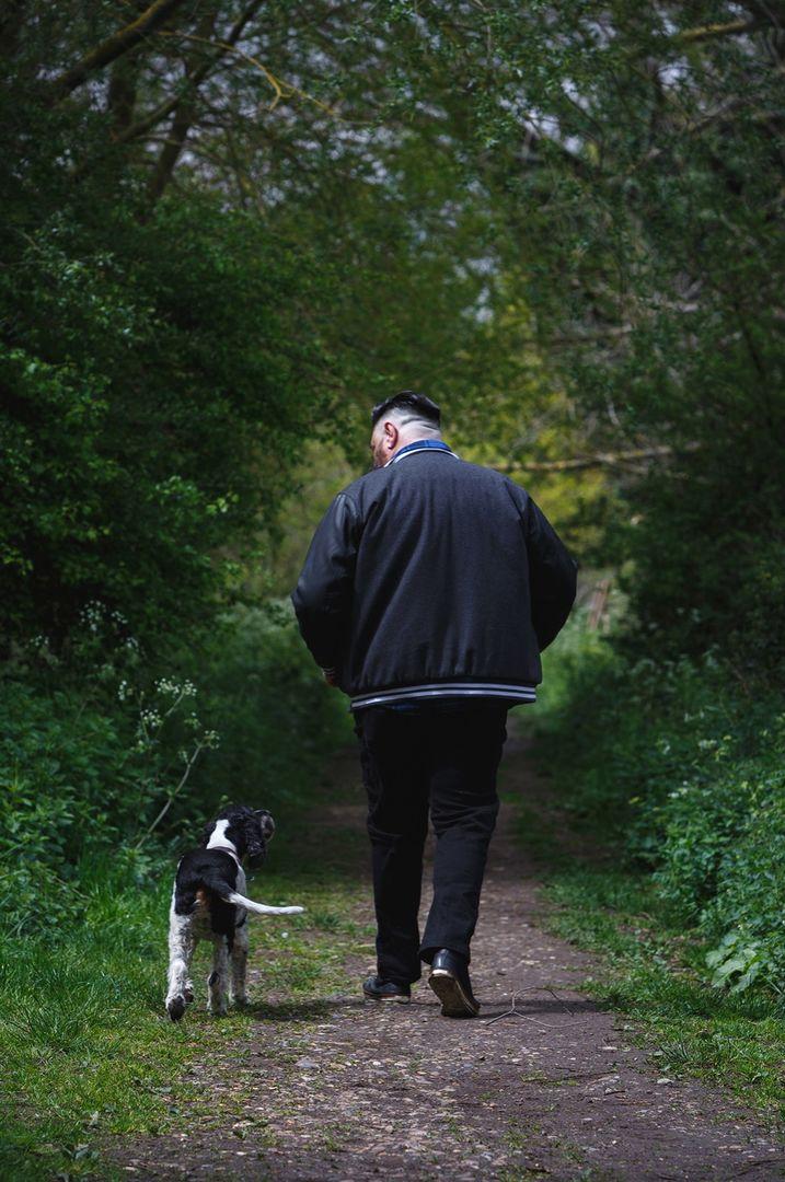 Doug & dog (Oscar)