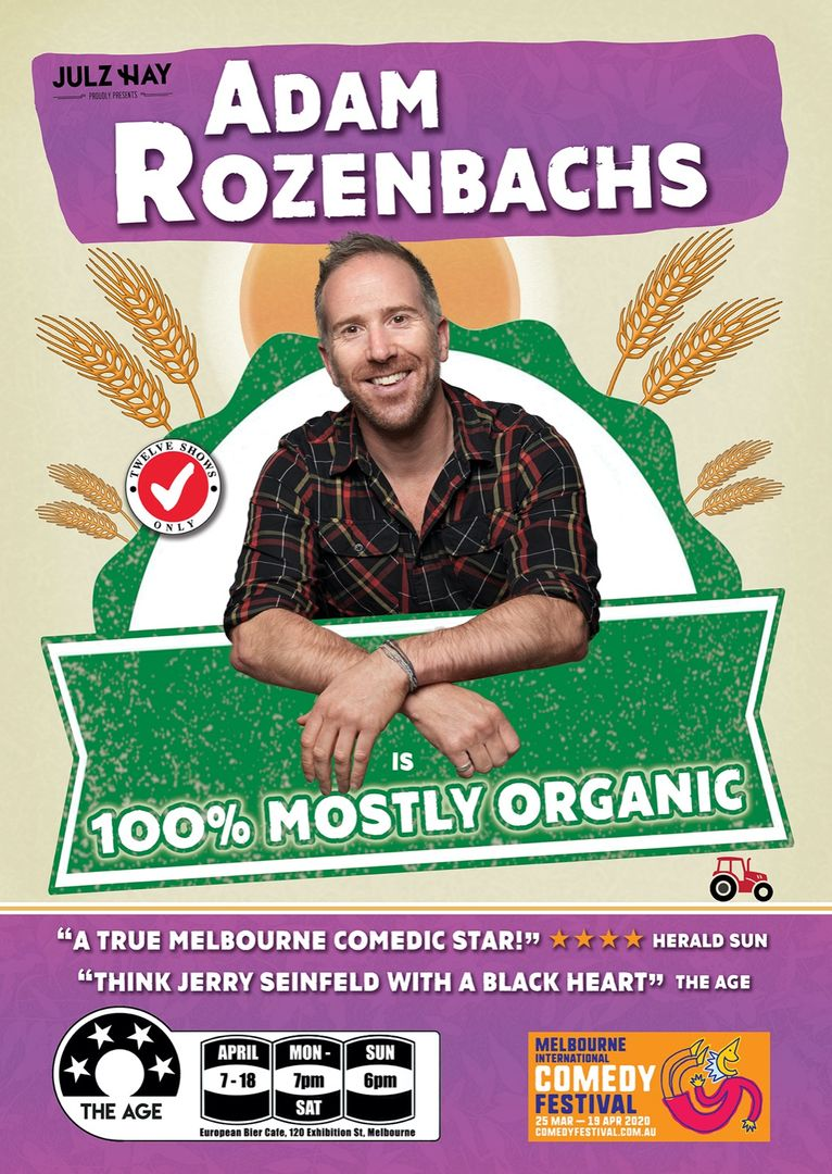 Adam Rozenbachs Is 100% Mostly Organic - Melbourne Comedy Festival 2020