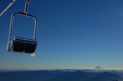 Frozen ski lift