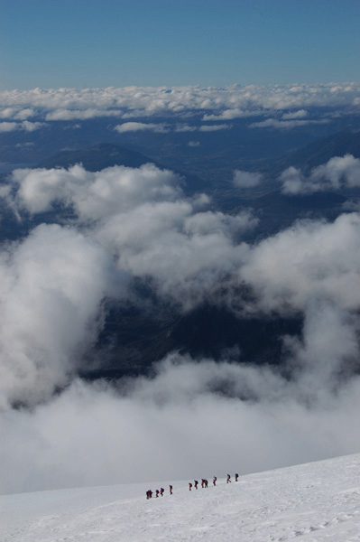Descending Volcan Villarica