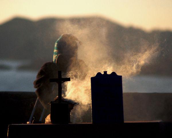 Mystery man, Lake Titicaca