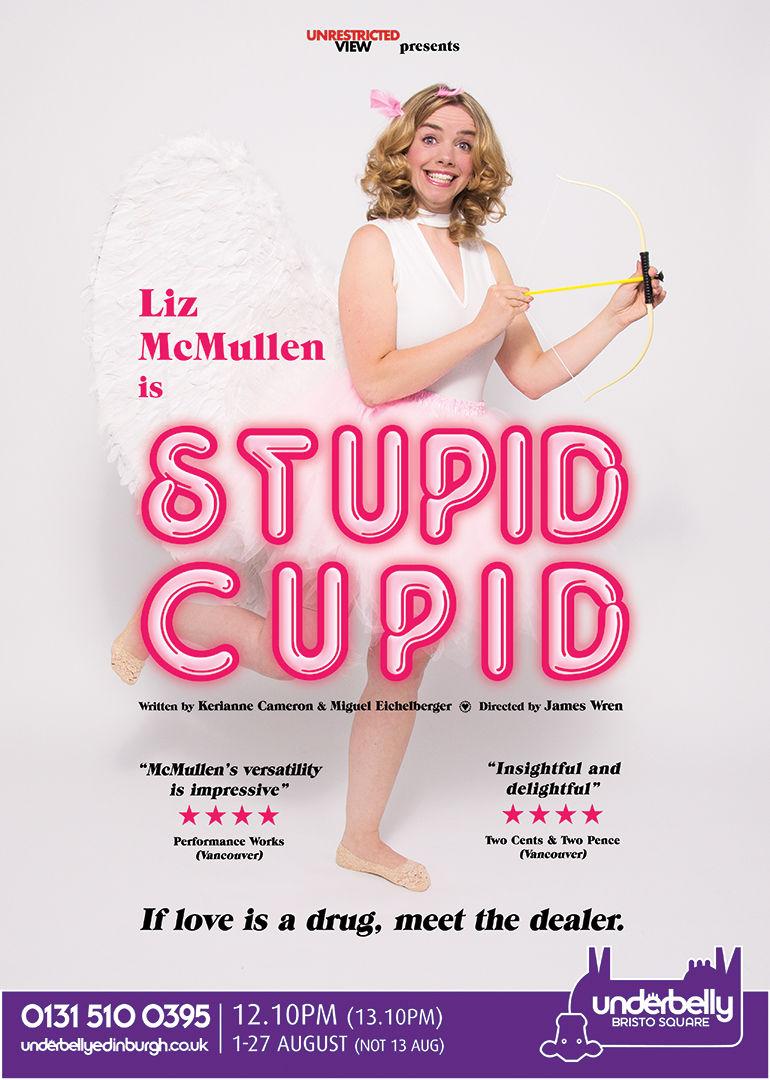 Liz McMullen - Stupid Cupid, Edinburgh Fringe (photo by Tom Webb)
