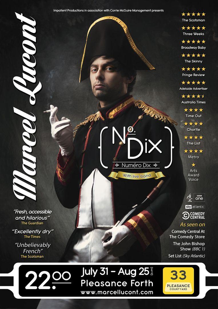 Marcel Lucont: No. Dix - Edinburgh Fringe 2019 (photo by Scott Chalmers)