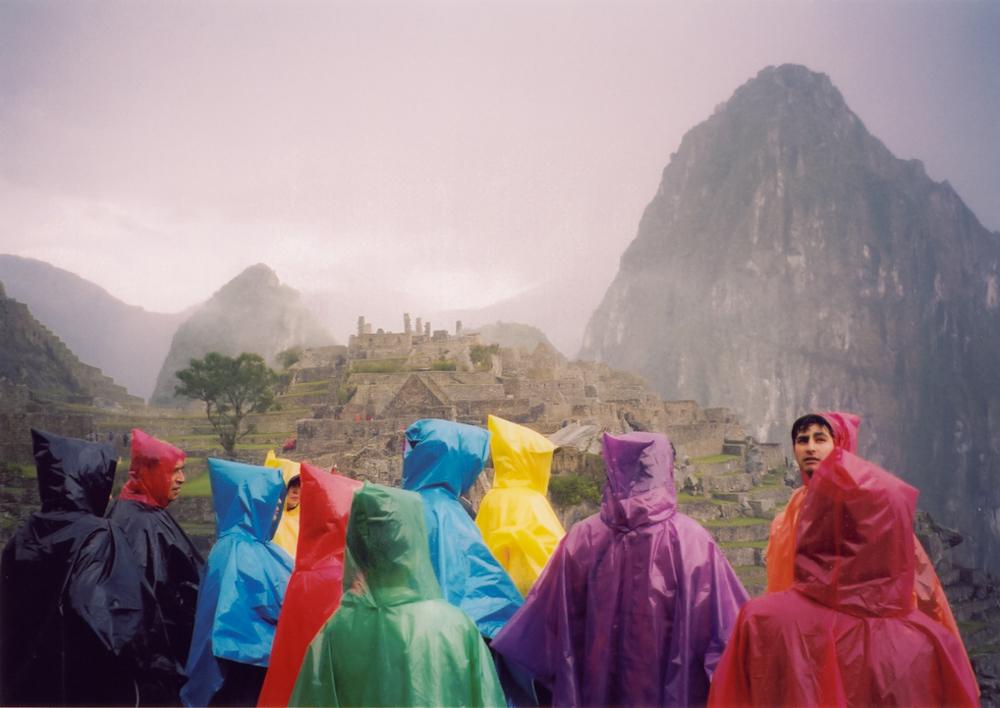 Tourists at Macchu Pichu