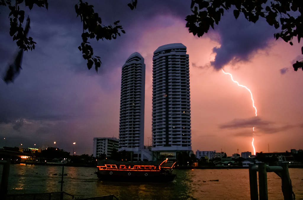 Thunderstorm, Bangkok, Thailand