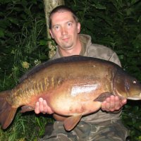 Rob with a 27lb NW Mirror