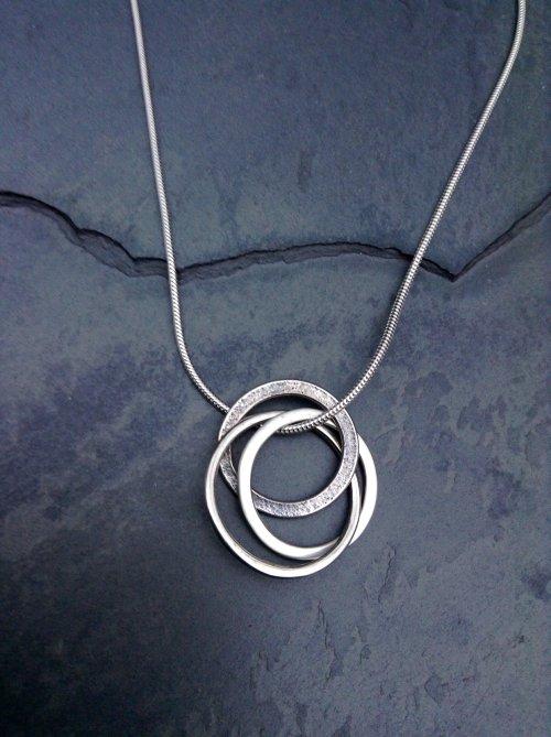 Triple ring pendant £45