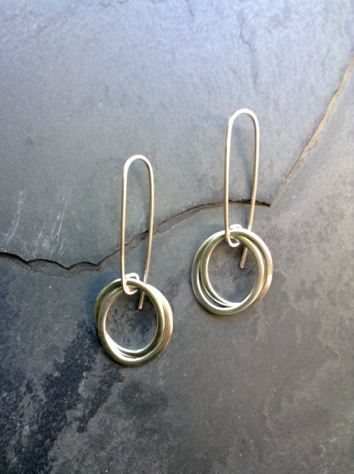 Double hoop silver earrings £25