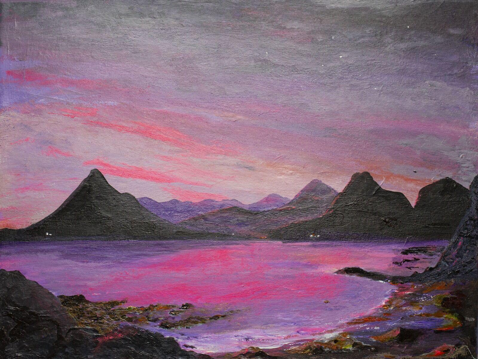 Purple Mountains - Skye Scotland