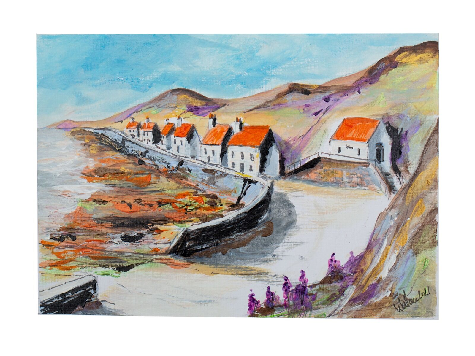 Red roofed sea houses