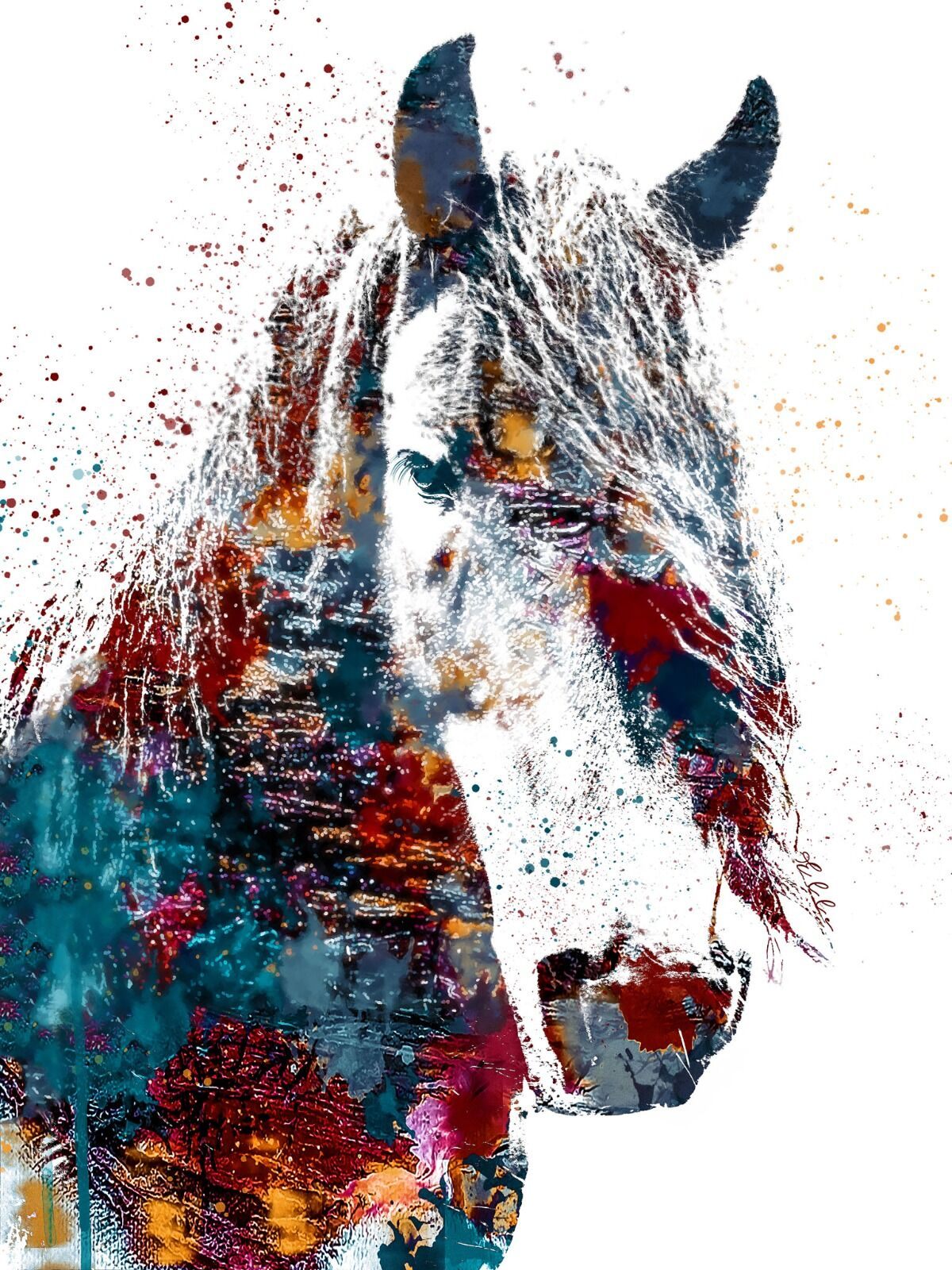 White Horse Abstract