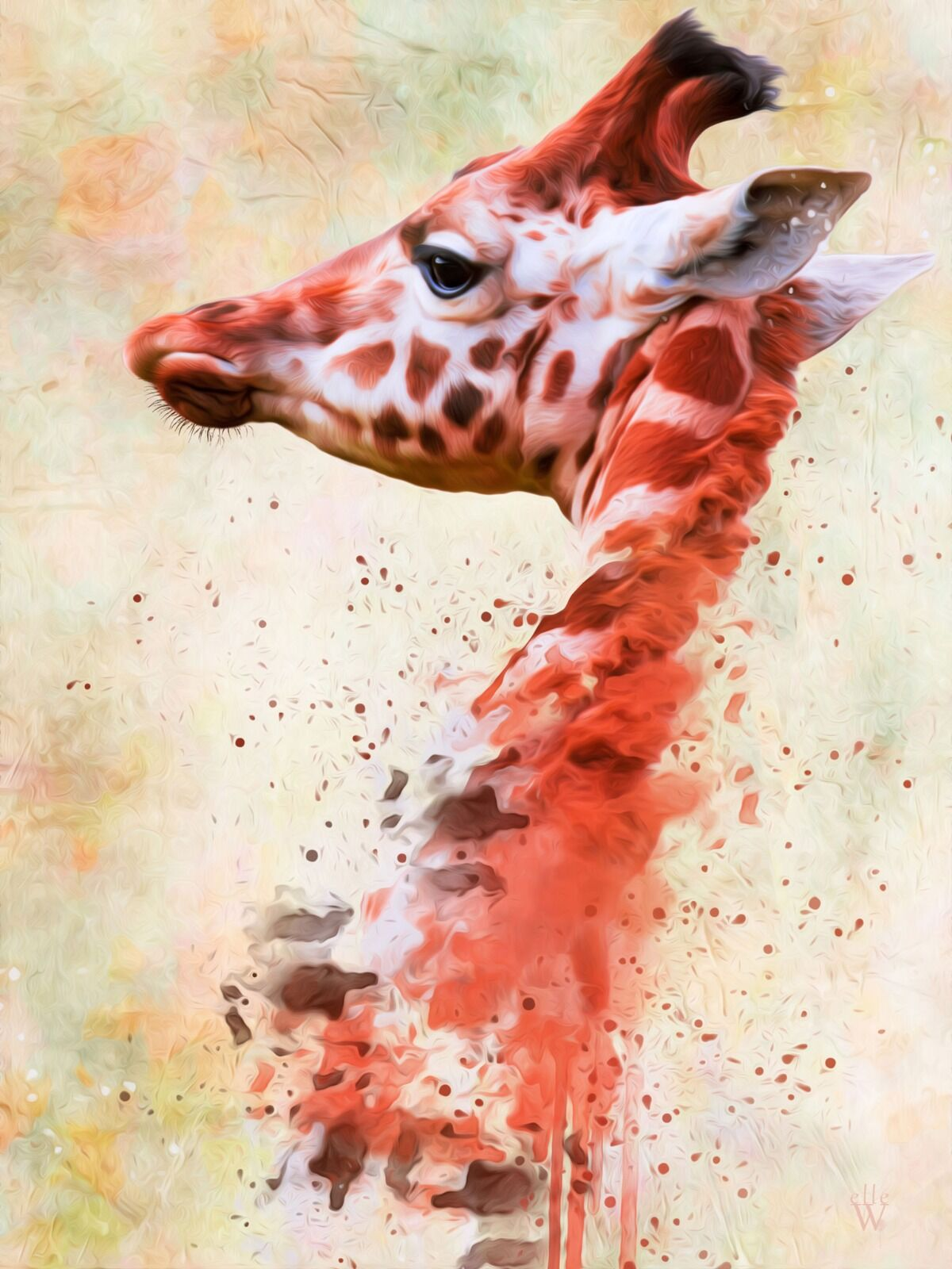 Giraffe Mixed Art Effect