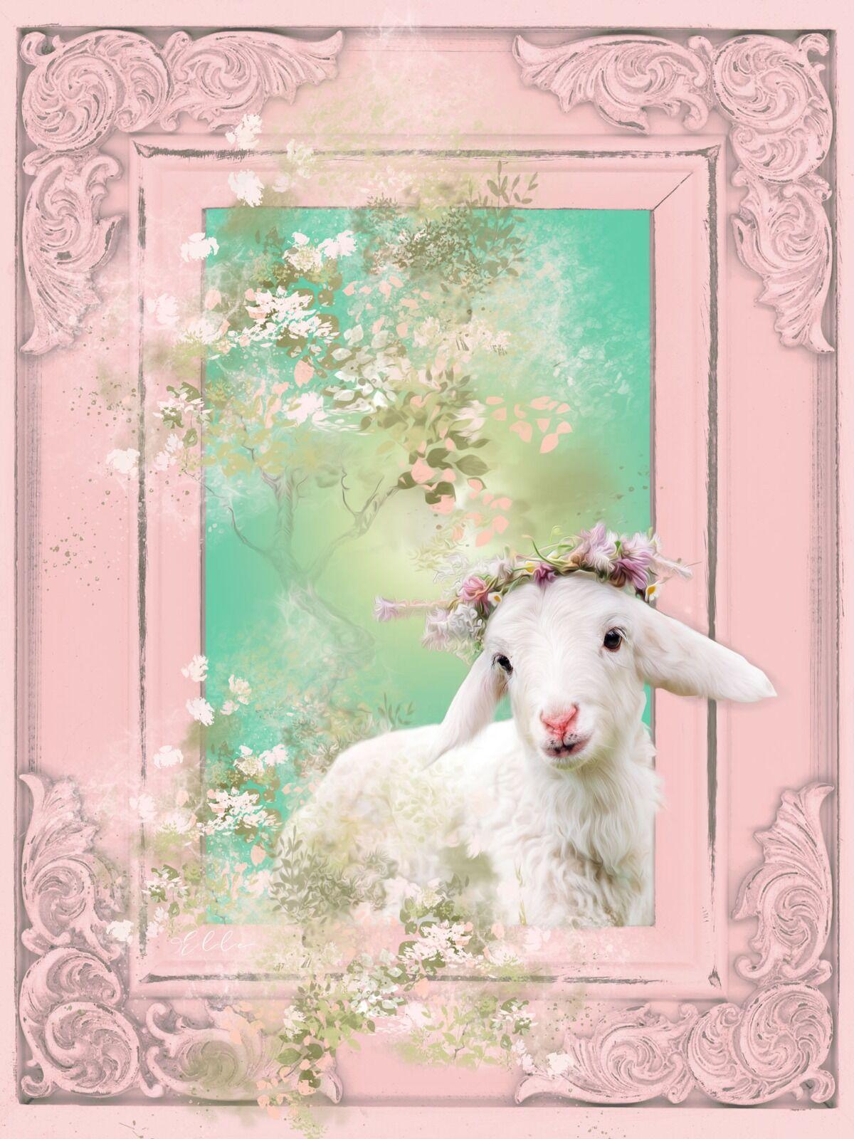 Little lamb - Wall art for baby nursery