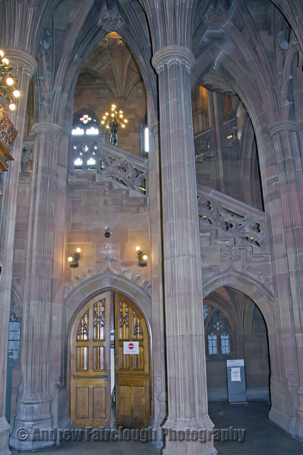 Interior view of John Rylands Library - Deansgate