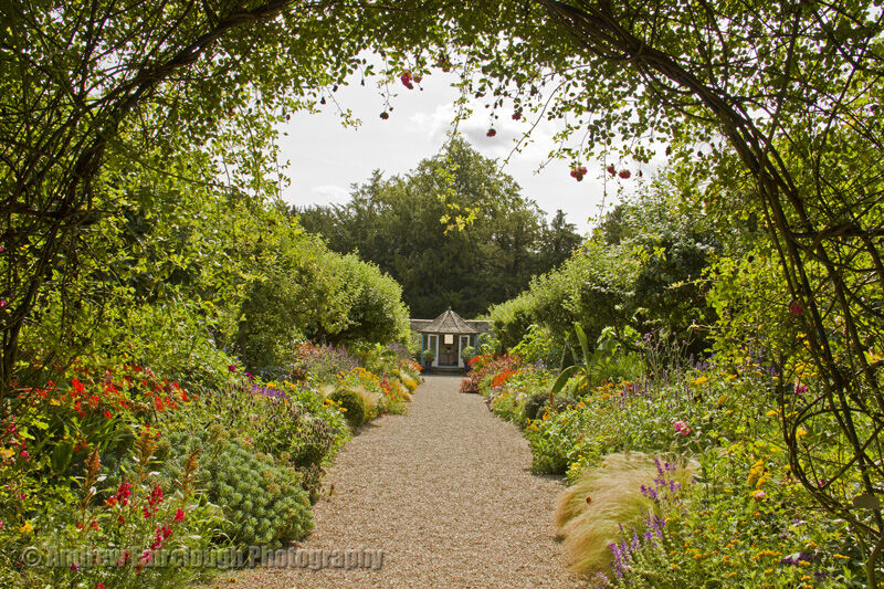 Herbaceous borders at Sledmere House