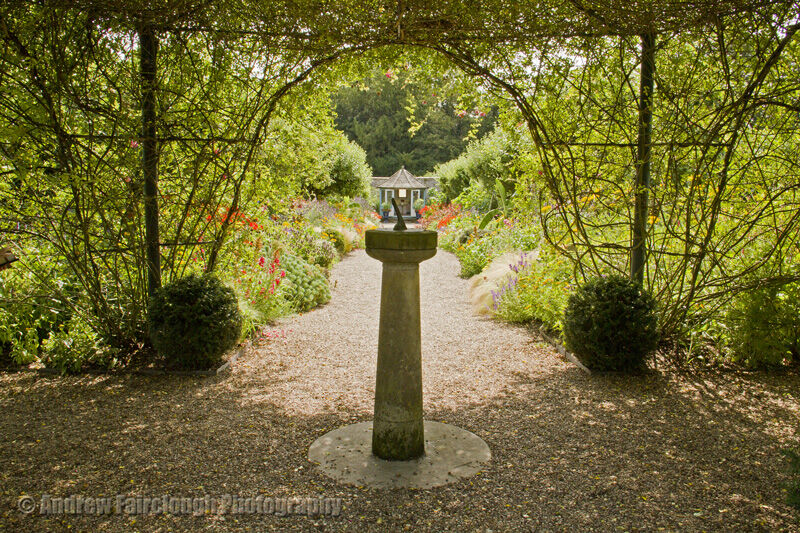 Sundial and Rose Arch at Sledmere House