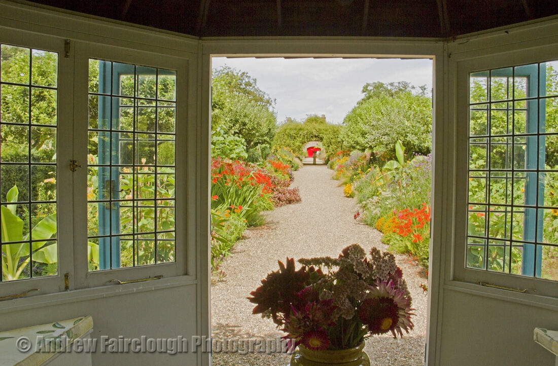 View of the Herbaceous Borders from the Tea House at Sledmere House