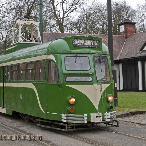 Blackpool Tramway 1937 Brush Railcoach (car number 623) at Heaton Park Tramway.