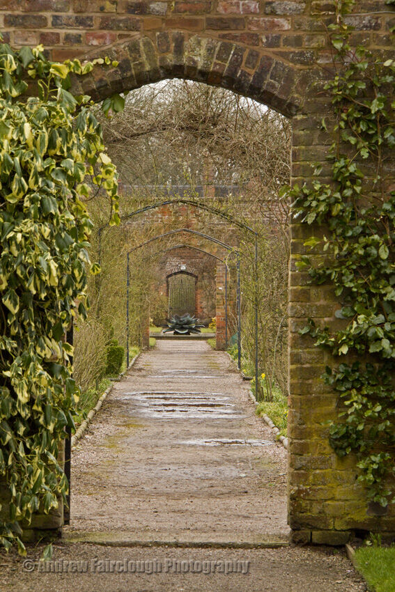 Looking across the Kitchen Garden into the Walled Garden