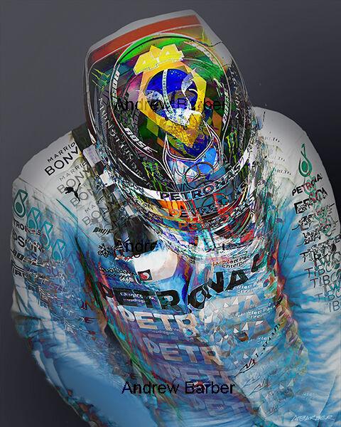 Lewis Hamilton Brazilian Flag Helmet