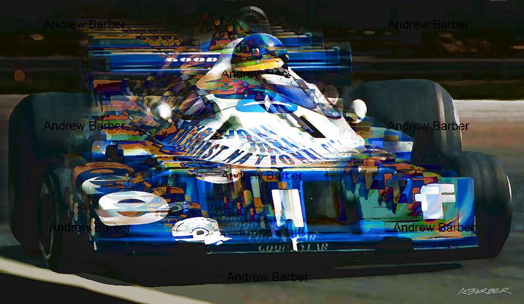 Ronnie Peterson Tyrrell Parabolica Monza ABI 100