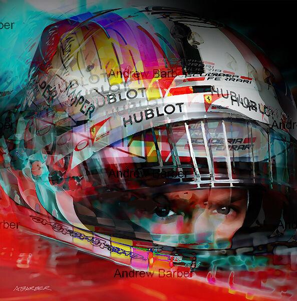 Sebastian Vettel Ferrari Portrait ABI 060