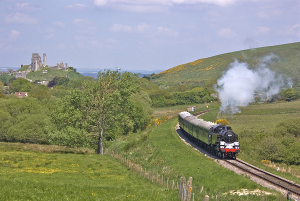 Corfe Castle and Train