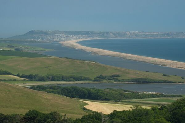 View of Chesil Beach