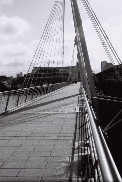 London - footbridge at Embankment