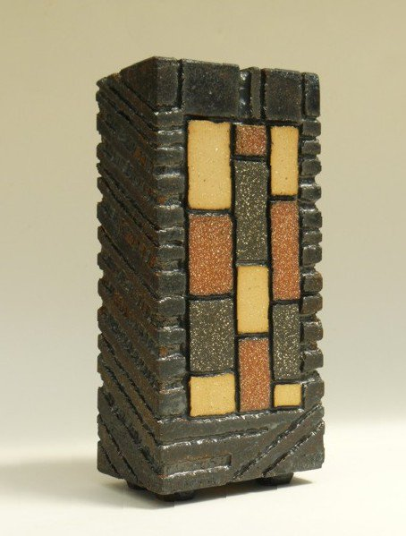 Tile-faced Brick Form - slab-built (footed base) - Height: 22 cm