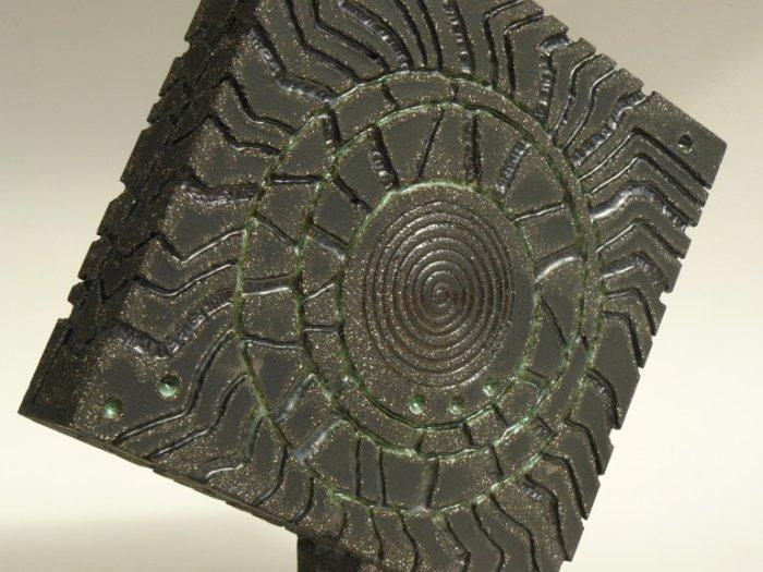 Slab-built, hand-carved Tumbling Square