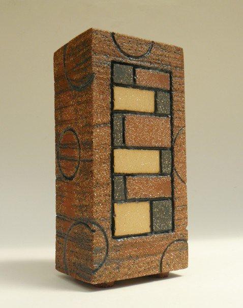 Tile-faced Brick Form - slab-built (footed base) Height: 25 cm