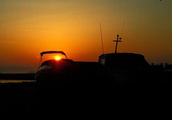 Sunrise At Portland Port