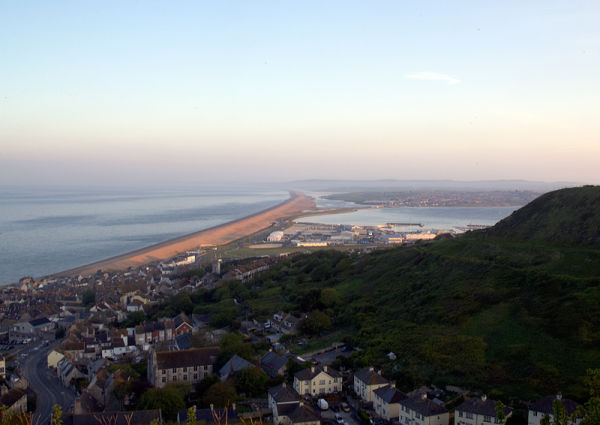 Chesil Beach As The Sun Rises