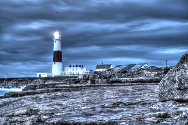 HDR image of Portland Bill Lighthouse