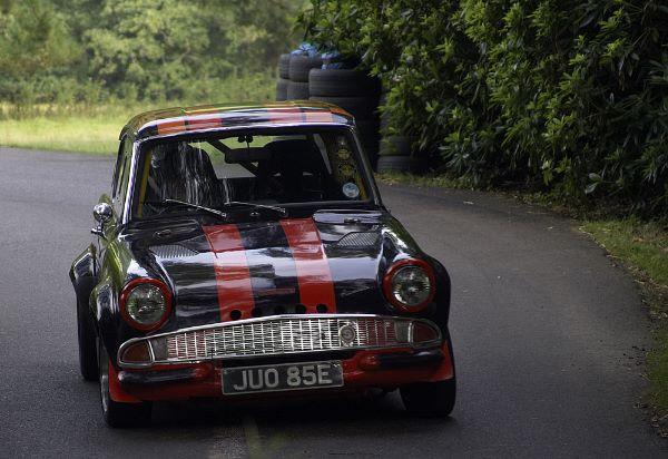 Ford Anglia 105E driven by John Read