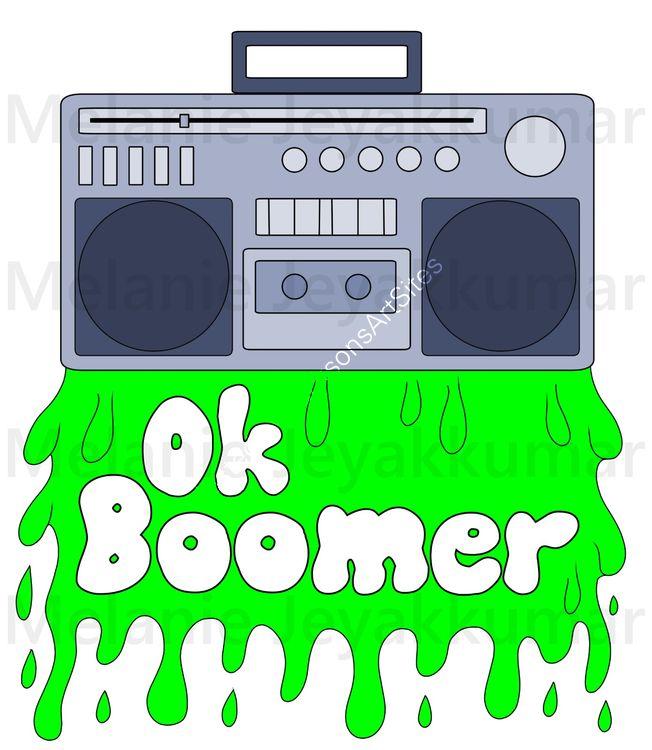 Boomer t-shirt green