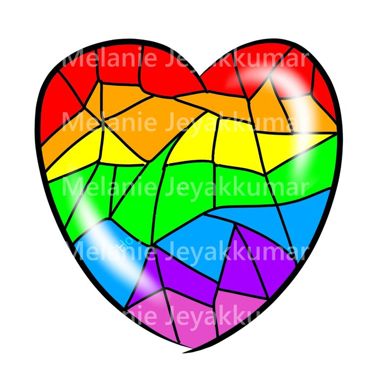 Broken Rainbow Heart