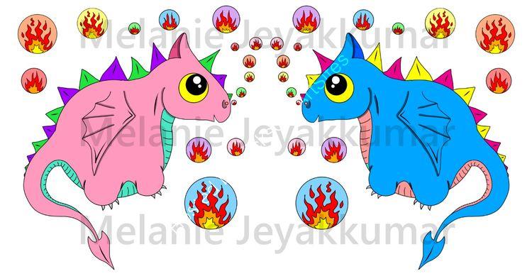 Cute Bubble Dragons